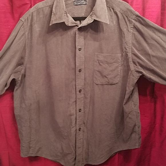 eb54dd521 Roundtree & Yorke men's grey corduroy shirt. XL.